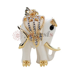Wholesale Western Slides - Yoursfs Western Design Cute Elephant Necklace 18K Gold Plated Lovely Sweater Necklaces For Women Animal Fashion Necklace Classic Jewelry