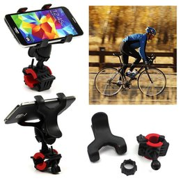 Wholesale Gps Case Bike - DHL 100pcs Smart Universal Bike Bicycle Handle Phone Mount Cradle Holder Cell Phone Support Case Motorcycle Handlebar For Iphone 7 GPS