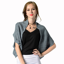 Wholesale Wholesale Long Sleeve Shrugs - Wholesale- Batwing Sleeve Knitted Cardigan Sweaters Women Fashion Oversized Shrug Sweater Autumn Sweater Jumpers