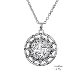 Wholesale Nordic Men - Myshape Wiccan Jewelry Viking Nordic Amulet Viking Norse Jewelry Scandinavian Necklace Link chain Jewelry Gift for Man & Woman