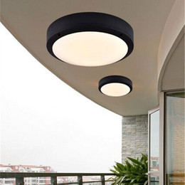 Wholesale Ceiling Lamp Outdoor - Modern Round LED Ceiling Light Outside Porch Lights Waterproof LED Ceiling Lamp Indoor Bathroom Lamp Outdoor Balcony Garden Lights
