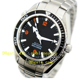 Wholesale Professional Diving Watch - Top quality Luxury New Automatic Black Dial Professional James Bond 007 Dive Sport 2200.51 SS 600M Mens Watch Men's Watches