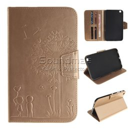 Wholesale Iphone Cases Character - Wallet PU Leather Embossing Stand Flip Case Cover Lovers Dandelion For Samsung Galaxy Tab 3 Cases Tablet T310 Iphone Ipad 6 5 mini