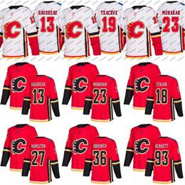 Wholesale Army 4xl - 2017-18 Calgary Flames Jersey S to 5XL 13 Johnny Gaudreau 19 Matthew Tkachuk 20 Curtis Lazar 25 Freddie Hamilton 93 Sam Bennett Jerseys