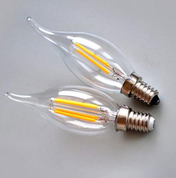 Wholesale E12 Candle Lamp - led lights Retail chandelier bulbs E14 E12 E27 E26 Led Candle bulb led lamps led lighting 2W 4W 6W modern silver golden Lights