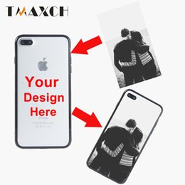 Wholesale Names Personal - Personal Customized Printing OEM Photo Logo Name Phone Case Cover For Iphone8 7 6 6S Plus Silicone Soft TPU+PC 3 kinds of material