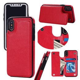 Wholesale Slimmest Iphone Folio Case - For iphone X 8 7 Wallet Leather Case Card Money Slots Slim Multi-functional Folio ID Window Shockproof TPU Cover for i6 6S plus SCA285