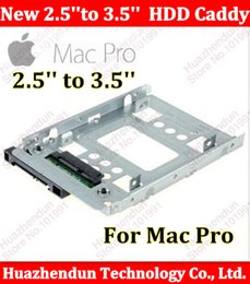 """Wholesale Drive Cage - Wholesale- For Mac Pro macpro New 2.5"""" SSD to 3.5"""" SATA Hard Disk Drive HDD Adapter Caddy Tray CAGE Hot Swp Plug so easy Free shipping"""