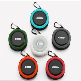 Wholesale Center Cup - C6 IPX7 Outdoor Sports Portable Waterproof Wireless Bluetooth Speaker Suction Cup Handsfree MIC Voice Box For iphone Smartphone