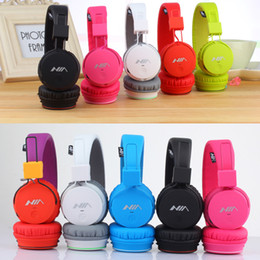 Wholesale Radio Ear Phones - X2 Wireless On-ear Headsets Stereo Bass Noise Cancelling earphones Supports FM Radio TF Card for Smart phone PC (6 Color)