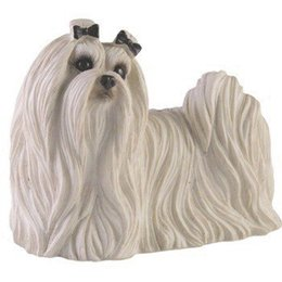Wholesale Maltese For Sale - Resin models for craft hot sale official genuine resin crafts lovely maltese dog for auto decoration