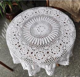 Güzel el tığ işi masa örtüleri, güzel tığ masa topper, yuvarlak masa örtüsü BEYAZ ev düğün için dekoratif af017 nereden
