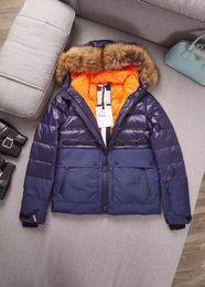 Wholesale Parka Style Jacket Men - 2017ss Luxury brand parkas for men winter famous england style down jacket anorak coats raccoon fur hood parka men jackets outwear M-XXXL