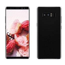 "Wholesale battery android phone - Note8 Quad Core MTK6580 1G RAM 16G ROM 6.3"" Andriod 6.0 8MP Camera 2300mAh Battery Fingerprint 3G WCDMA Unlocked Phone 1pc"
