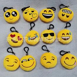 Мягкие плюшевые куклы игрушки желтый QQ выражение Моды новый 6 см смайлик смайлик для мобильного мешок кулон от