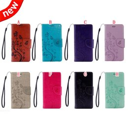 Wholesale Xl Leather Bag - Strap Flower Butterfly Wallet Leather Pouch Case For Google Pixel XL Sony X Compact Mini ZTE Zmax Pro Z981 ID Card TPU Stand Bag Cover 50pcs