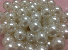 Wholesale Imitation Pearls Loose Beads - new New 100PCS carton white 20mm Imitation pearls Loose bead white Acrylic Pearl Beads DIY Resin hot Spacer for Jewelry shamballa ! DIY