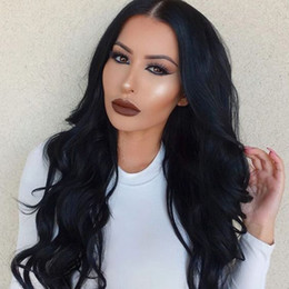 Wholesale Brown Hair Celebrities - Celebrity style Unprocessed Body Wave Human Hair Wigs With Baby Hair Full Lace Indian Human Hair Wigs Indian Lace Front Wigs