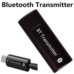 Wholesale Iphone Usb Dongle - Bluetooth Audio Transmitter Wireless USB Music Stereo Dongle Adapter for iPhone 6s Samsung S7 Computer TV Tablet 3.5mm Audio Adapter