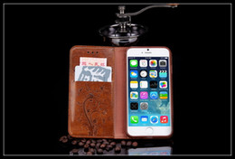 Wholesale Blackberry Leather Flip Shell - For iPhone 7 iPhone 7 plus iPhone7 Case Embossed pattern Leather Phone TPU Back Cover Flip Shell Stand Wallet Bag Card For SAMSUNG Note7