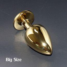 enchufes de banana de silicona Rebajas 2016 juguetes adultos del metal de los productos del sexo de los productos adultos del sexo del enchufe del extremo de oro del acero inoxidable
