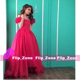 Wholesale Ball Gown Kim Kardashian - Women Evening dresses Kim kardashian Hilton Zuhair murad 2016 Golden Global Awards Red Prom Ball gown Puffy sleeve Off shoulder Floor-Length