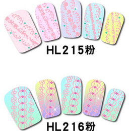Wholesale Nail Art Free Stencils Designs - 3D Nail Art Sticker Pink Lace Nail Art Stencils 3d Nail Art Designs High Quality Free Shipping