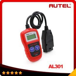 Wholesale Website Auto - Autel AutoLink AL301 OBD II & CAN Code Reader Auto Link AL 301 Auto Diagnostic Scan Update Official Website 10pcs lot DHL free