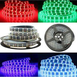 Doppelte weiße led-streifen online-Super Bright 600 LEDs zweireihig SMD 5050 LED Strip 12V Weiß Gelb Rot RGB LED leuchtet nicht wasserdicht DC12V Flexible LED-Licht