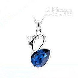 Wholesale Little Korean Jewelry - Free Shipping 2016 south Korean jewelry little swan crystal pendant necklace Individualistic lady accesories wholesale price