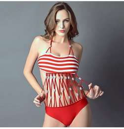 ffc14a6143 one piece swimsuit sexy tight 2019 - New Fashionable Striped Swimsuit  Female Conjoined Tight Swimsuit Sexy