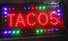 Wholesale 2016 Factory direct sale LED TACOS store usage business sign LED open sign Animated OPEN sign led sign