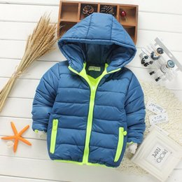 Wholesale European Feather - Free shipping the new 2016 hooded winter jacket coat 6 kinds of color in the fall and winter of children's coat