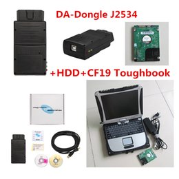 Wholesale Land Rover Sdd - 2017 Top Professional DA-Dongle J2534 SDD VCI Device for Jaguar & Land Rover with software + CF19 Laptop For Panasonic Toughbook