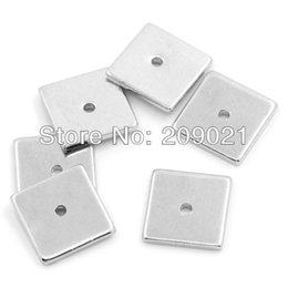"""Wholesale Spacer Findings -  Finding - 300pcs Copper Spacer Beads Square Silver Tone 8mm x 8mm( 3 8""""x 3 8"""")"""