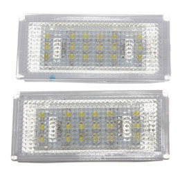 Wholesale pair license plate - 1 Pair 18 LED License Plate Light for BMW 3 Series  E46 2d Coupe 1998 - 2003  M3  Pre-Facelift