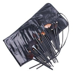 Wholesale Makeup Brushes Roll Up Case - DHL 32pcs Professional Makeup Brushes MC Brand Make Up Cosmetic Beauty Brush Set Kit Tool + Roll Up PU Leather Case