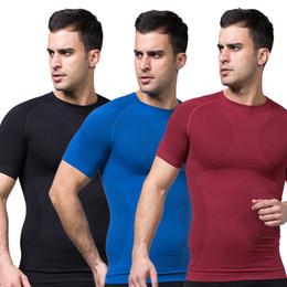 Wholesale Girdle Bodysuit - Wholesale-Mens Slimming Body Shaper Tummy Belly Waist Girdle CincherTee Shirt Underwear Shapewear Bodysuit New L4