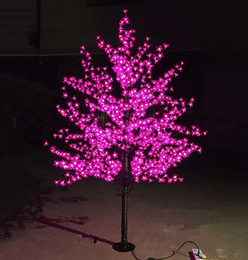 Wholesale Used Outdoor Christmas Decorations - LED Artificial Cherry Blossom Tree Light Christmas Light 1152pcs LED Bulbs 2m Height 110 220VAC Rainproof Outdoor Use Free Shipping