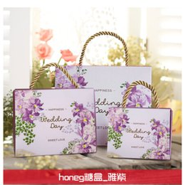 Wholesale Colorful Favors - 2016 Colorful Personality Favor Boxes Wedding Candy Boxes Papery 100 Pecs Lot Square Special Wedding Party Favors For Wedding Gifts Boxes