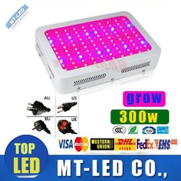 Wholesale Fast Growing - fast ship High Cost-effective 300W LED Grow Light 100pcs * 3W 100 LEDs garden downlight Hydroponic LED Grow Lamp lights Panel lighting