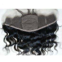 Piezas de pelo de seda de encaje de cierre online-Silk Base Lace Frontal 13x4 nudos blanqueados Virgin Brazilian Hair Body Wave Seda Top Lace Frontal Hair Pieces Cheap 4x4 Silk Frontal Closure