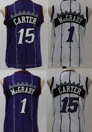 Wholesale Mcgrady S - Kids 1 Tracy McGrady 15 Vince Carter Jersey boy child youth Stitched Shirts top Quanlity Mix Order