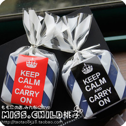 Wholesale British Decorations - 180pcs(30sheet) British Style Brief Keep Calm And Carry On Red Black Sealing Paste Wedding Decoration Adhesive Stickers B154 <$18 no trackin
