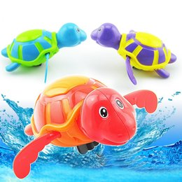 Wholesale Small Wind Up Toys - New born babies swim turtle wound-up chain small animal Baby Children bath toy classic toys ZA0232