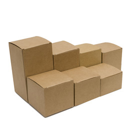 50 teile / los 8 * 8 * 5-14 (H) cm Natürliche Kraftpapier Box Geschenk Süßigkeitskästen Hochzeit Boxen Kosmetikdose Verpackung Boxen Party Supplies von Fabrikanten