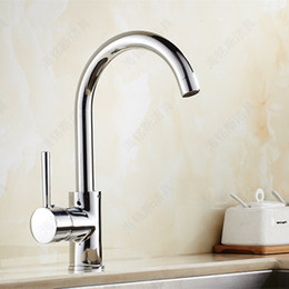 Wholesale Brass Single Handle Sink Faucet - Free shipping 360 rotation kitchen sink faucet with single handle ktichen mixer tap and high quality brass kitchen water faucet