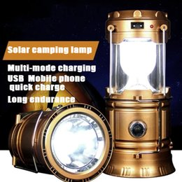 Wholesale Solar Energy Wholesale - 2016 new 6W Outdoor lighting camping Solar energy Rechargeable Camping Lantern Bivouac Hiking Camping Light LED Lamp