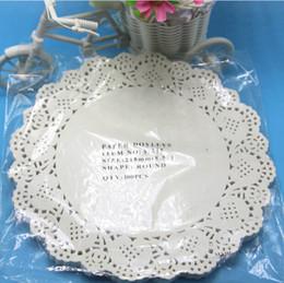 "Wholesale White Paper Doilies - Wholesale-Creative Craft 8.5"" diameter 21cm Round White Paper Lace Doilies Cake Placemat Party Wedding Gift Decoration 100pcs pack"