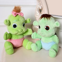 Wholesale Pelucia Kawaii - Wholesale-30cm Kawaii Cute Monster Shrek Peluche Kids Toys Soft Plush Toys Juguetes Pelucia Baby Toy Gift for boy girl
